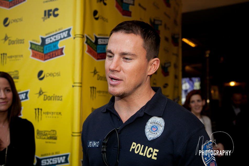 Channing Tatum speaking on Red Carpet at SXSW 2012