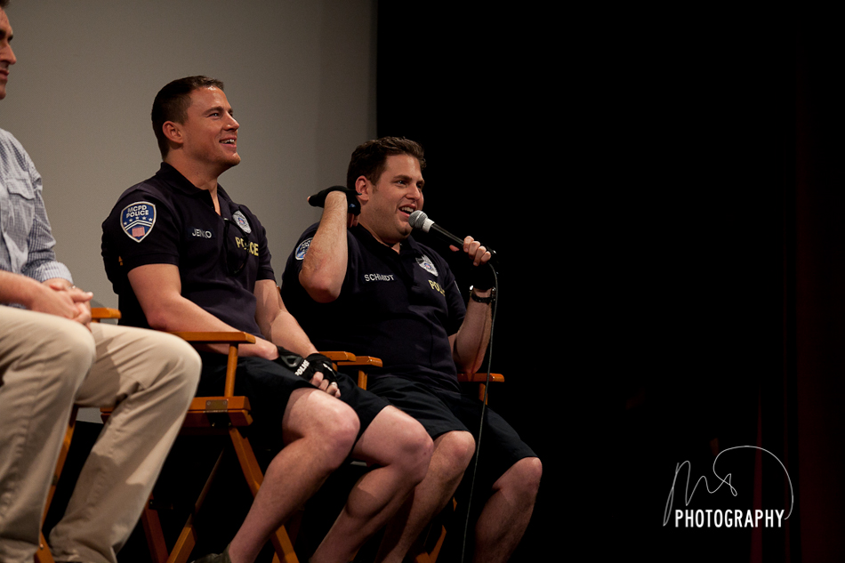 Channing Tatum and Jonah Hill during Q&A