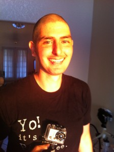 My Shaved head after meeting my goal of $400 for the MS-150 ride from Houston to Austin, Tx on April 21 and 22nd.