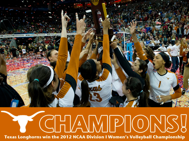 Texas Longhorns Volleyball National Champions