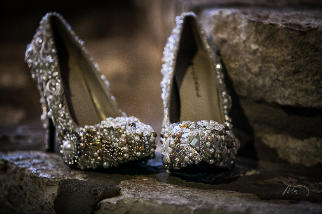 Custom Decorated Wedding Shoes by Arielle