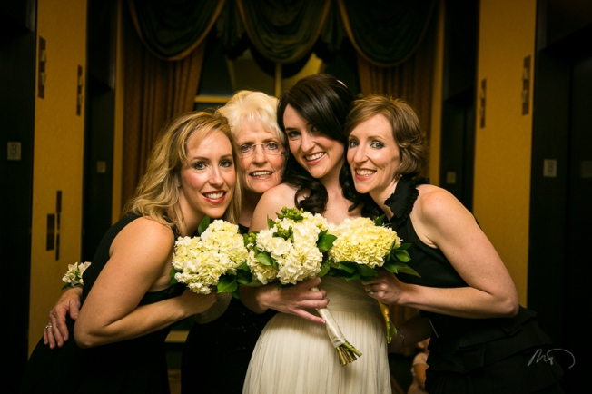 Erin and her lovely mother and sisters.