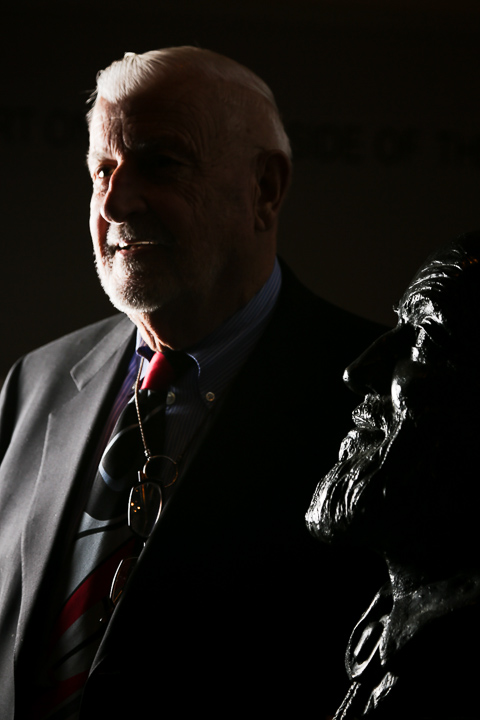 Micah DeBenedetto/Special to the Caller-Times Dr. Michael Adams with bust of Ansel Adams