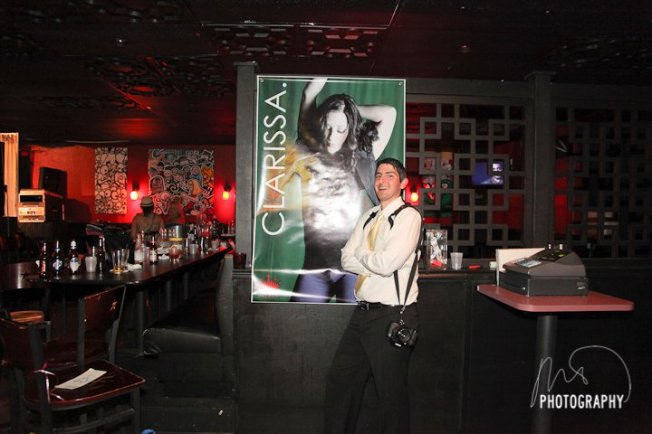 Here I'm posing next to the BLOW UP of her album cover at Clarissa Serna CD Release Party